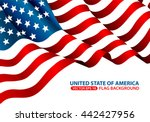 united state of america flag... | Shutterstock .eps vector #442427956