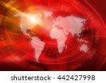 graphical world news studio...   Shutterstock . vector #442427998