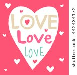 love words inside heart shape | Shutterstock .eps vector #442434172