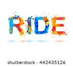 ride. splash paint word | Shutterstock .eps vector #442435126