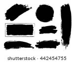 set of hand drawn brushes and... | Shutterstock .eps vector #442454755