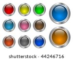 set of glass  with metallic... | Shutterstock .eps vector #44246716