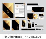 gold and black corporate... | Shutterstock .eps vector #442481806