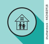 family in house icon | Shutterstock .eps vector #442483918