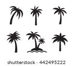 palm icons set  isolateed ... | Shutterstock .eps vector #442495222