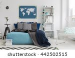 modern bedroom with double bed  ... | Shutterstock . vector #442502515
