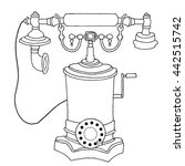 vintage phone | Shutterstock .eps vector #442515742