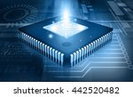 integrated circuit on binary... | Shutterstock . vector #442520482