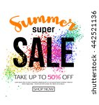 summer sale banner template ... | Shutterstock .eps vector #442521136