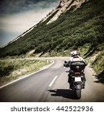 racer on mountainous highway ... | Shutterstock . vector #442522936