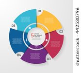 vector circle infographic... | Shutterstock .eps vector #442530796