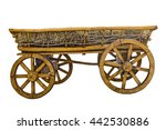 Old Wooden Cart With Hay...