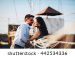 young couple having fun on the... | Shutterstock . vector #442534336