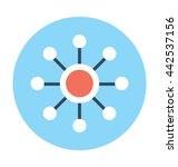 networking vector icon | Shutterstock .eps vector #442537156