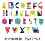 bright funky abc for your... | Shutterstock .eps vector #442547476
