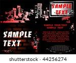 underground red city poster | Shutterstock .eps vector #44256274