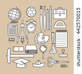 vector school supply icon... | Shutterstock .eps vector #442570015