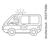 coloring page outline of... | Shutterstock .eps vector #442574386
