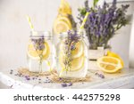 cold infused detox water with... | Shutterstock . vector #442575298