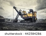 Excavator In The Open Pit Mine...