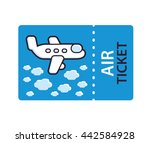 air ticket with a jet airplane... | Shutterstock .eps vector #442584928
