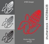 web line icon. corn   Shutterstock .eps vector #442586638