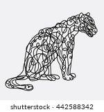 leopard wild animal with... | Shutterstock .eps vector #442588342