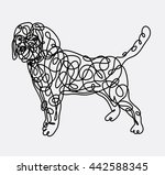 beagle dog with artistic... | Shutterstock .eps vector #442588345