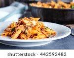 close up of american chop suey  ... | Shutterstock . vector #442592482