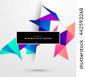 geometric vector background.... | Shutterstock .eps vector #442593268