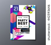 party flyer template. vector... | Shutterstock .eps vector #442593646
