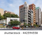 tokyo  japan   may 31  red car... | Shutterstock . vector #442594558