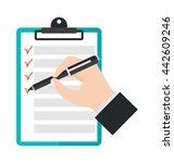 agenda list icon vector... | Shutterstock .eps vector #442609246