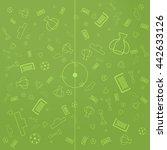 soccer pattern background | Shutterstock .eps vector #442633126