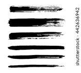 vector set of grunge brush... | Shutterstock .eps vector #442636942