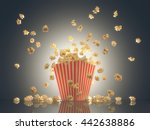 popcorn exploding out of the... | Shutterstock . vector #442638886