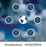 vector infographics with... | Shutterstock .eps vector #442639546