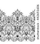 paisley seamless pattern ... | Shutterstock .eps vector #442651606