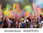 the festival of holi | Shutterstock . vector #442659292