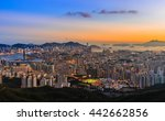 hong kong city skyline  | Shutterstock . vector #442662856