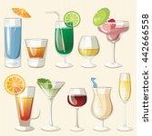 vector illustration of popular... | Shutterstock .eps vector #442666558