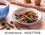 bamboo worm edible insect... | Shutterstock . vector #442677058