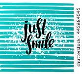 trendy lettering poster. hand... | Shutterstock .eps vector #442684045
