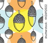 seamless pattern hand drawing... | Shutterstock .eps vector #442692022
