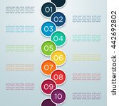 infographic numbers 1 to 10 in... | Shutterstock .eps vector #442692802