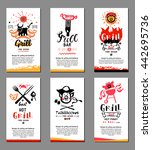 grill illustrations  cards.... | Shutterstock .eps vector #442695736