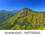 Small photo of Sri Lanka landscapes nature background.View from Adam's peak small Ella