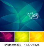 curvy abstract background.... | Shutterstock .eps vector #442704526