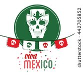 skull icon. mexico culture.... | Shutterstock .eps vector #442705852