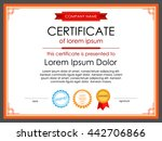 certificate template with... | Shutterstock .eps vector #442706866